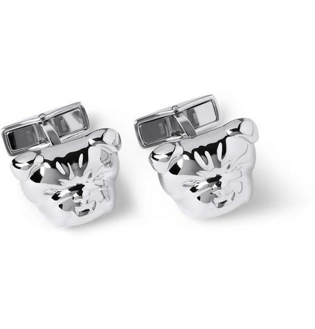 dunhill male dunhill bulldog silver cufflinks silver