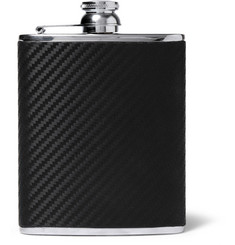 Dunhill Chassis Leather and Stainless Steel Hip Flask