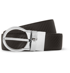 Alfred Dunhill Cut-to-Fit Black 3cm Chassis Embossed-Leather Belt
