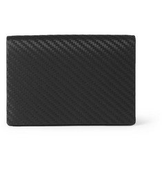 Alfred Dunhill Chassis Embossed-Leather Business Card Holder