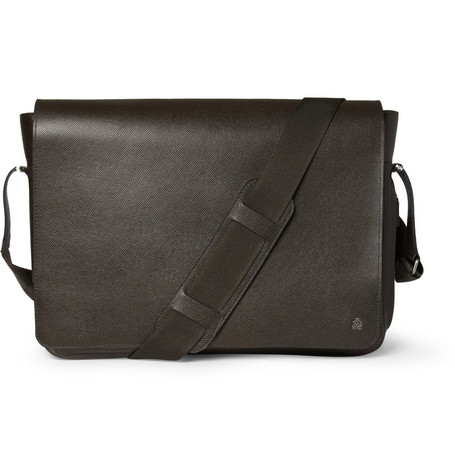 Alfred Dunhill Bourdon Textured-Leather Messenger Bag