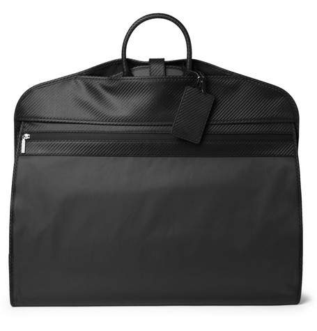 Alfred Dunhill Chassis Leather-Trimmed Suit Carrier