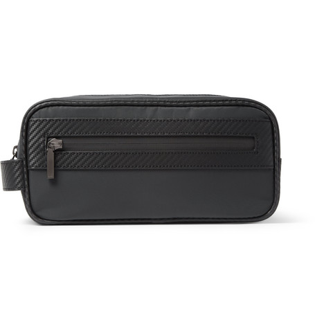 Alfred Dunhill Chassis Leather-Trimmed Wash Bag