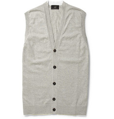 Alfred Dunhill Cotton-Jersey Sleeveless Cardigan