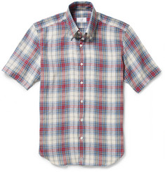 Alfred Dunhill Check Short-Sleeved Linen Shirt