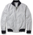 Dunhill Ribbed-Trimmed Check Bomber Jacket