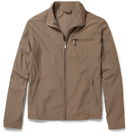 Alfred Dunhill Coated-Shell Bomber Jacket