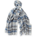 Dunhill - Check Wool, Silk and Linen-Blend Scarf