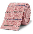Alfred Dunhill Striped Knitted Mulberry Silk Tie