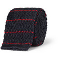 Alfred Dunhill Striped Knitted Silk Tie