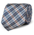 Alfred Dunhill Check Mulberry Silk Tie