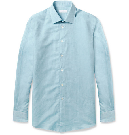 Richard James Linen and Cotton-Blend Shirt