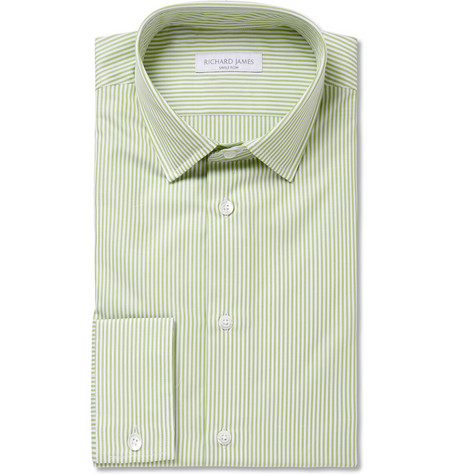 Richard James Green Bengal Stripe Cotton Shirt