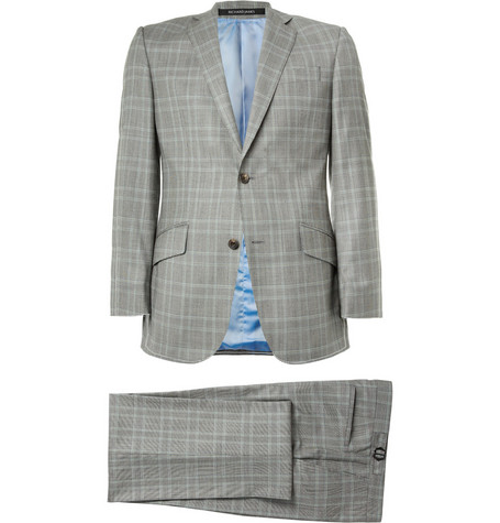 Richard James Grey Prince of Wales Check Wool Suit