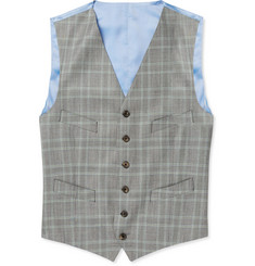 Richard James Grey Prince of Wales Check Wool Suit Waistcoat