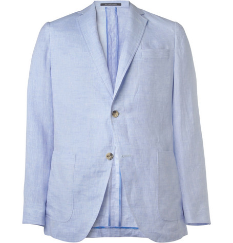 Richard James Blue Spirit Linen Suit Jacket