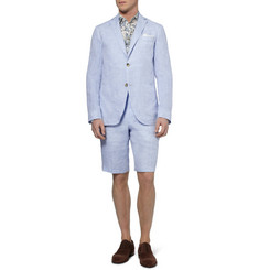 Richard James Light Blue Linen Suit Shorts