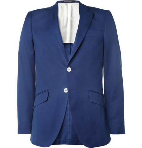 Richard James Blue Seishin Slim-Fit Cotton Suit Jacket