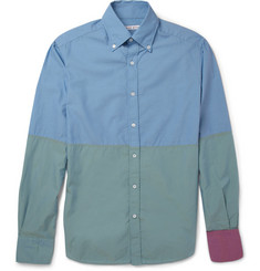 Michael Bastian Slim-Fit Panelled Cotton Shirt
