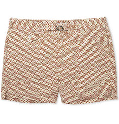 Michael Bastian Giraffe-Print Short-Length Cotton-Oxford Swim Shorts