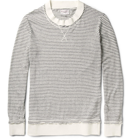 Michael Bastian Striped Linen-Jersey Sweater
