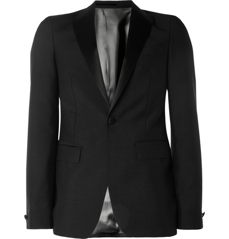 Acne Studios Black Drifter Mohair-Blend Tuxedo Jacket