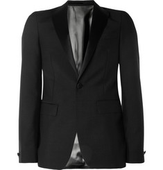 Acne Black Drifter Mohair-Blend Tuxedo Jacket