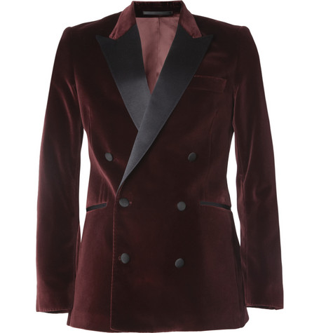 Acne Studios Grant Slim-Fit Velvet Tuxedo Jacket