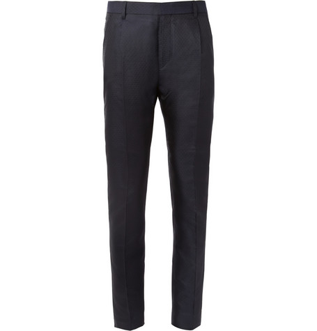 Acne Regent Pleated Silk-Blend Jacquard Trousers