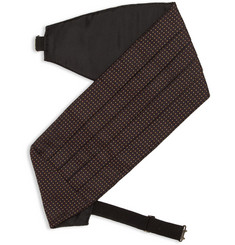 Acne Chuck Pleated Silk-Jacquard Cummerbund