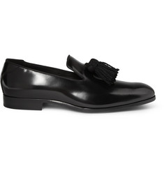 Jimmy Choo Foxley Tasselled High-Shine Leather Loafers
