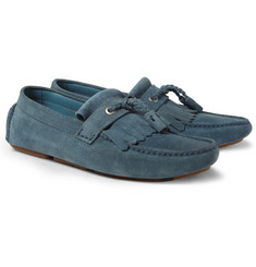 Jimmy Choo Eaton Tasselled Suede Driving Shoes