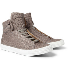 Jimmy Choo Albion Anaconda Leather High Top Sneakers