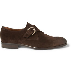 Jimmy Choo Byron Suede Monk-Strap Shoes