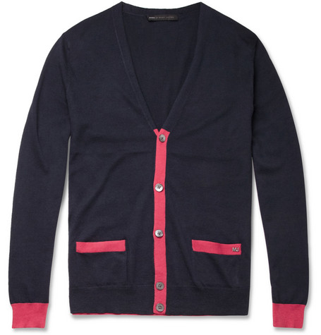 Marc by Marc Jacobs Contrast-Colour Silk and Cotton-Blend Cardigan