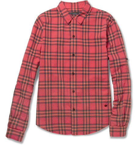 Nico Textured Plaid Cotton-Blend Shirt