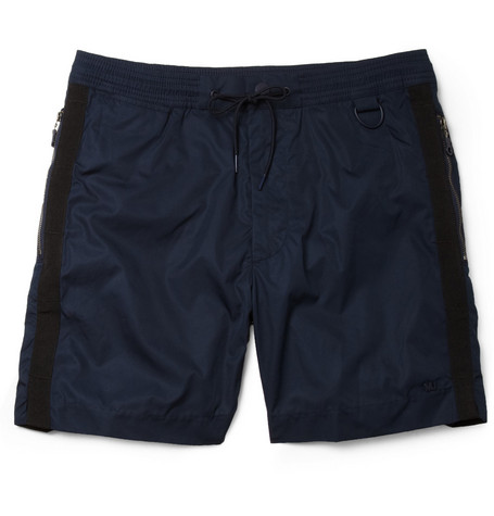 Marc by Marc Jacobs Mid-Length Contrast-Trim Swim Shorts