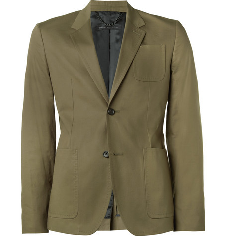 Marc by Marc Jacobs Olive Harvey Cotton-Twill Suit Jacket