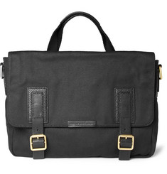 Marc by Marc Jacobs Robbie G Leather-Trimmed Canvas Messenger Bag