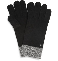 Marc by Marc Jacobs Two-Tone Wool-Blend Gloves