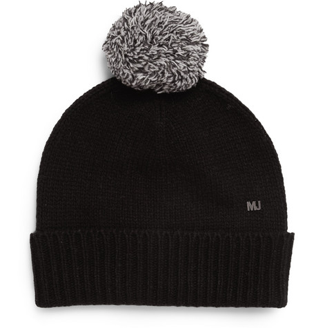 Marc by Marc Jacobs Wool-Blend Beanie Bobble Hat