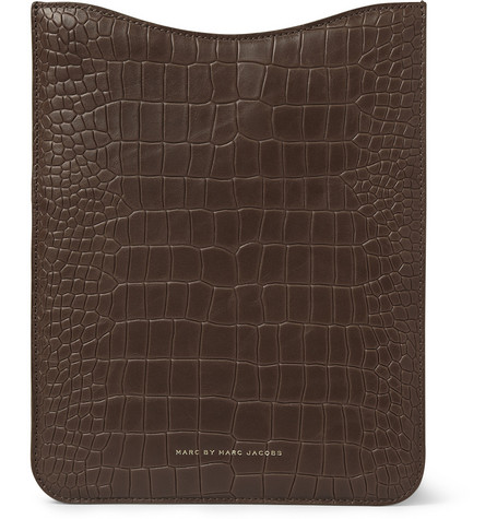 Marc by Marc Jacobs Crocodile-Embossed Leather iPad Sleeve