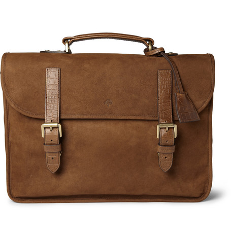 Mulberry Elkington Brushed-Leather Briefcase