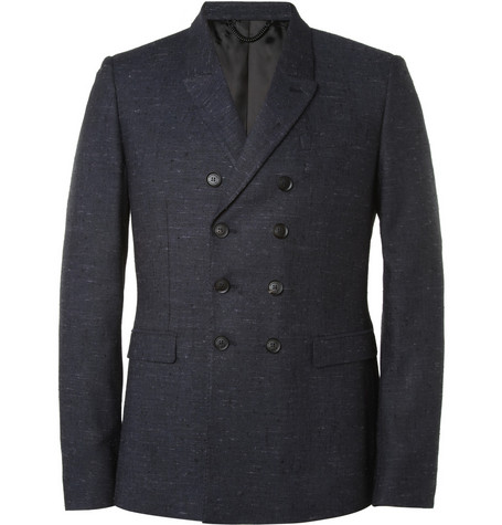 Burberry Prorsum Navy Slim-Fit Slub Suit Jacket