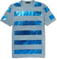 Burberry Prorsum - Metallic-Stripe Cotton-Jersey T-Shirt