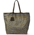 Burberry Prorsum - Printed Leather-Trimmed Tote Bag