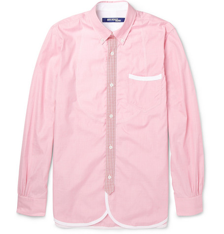 Junya Watanabe Button-Down Collar Cotton Shirt