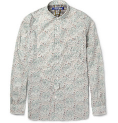 Junya Watanabe Round-Collar Printed Cotton Shirt