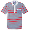 Junya Watanabe Slim-Fit Striped Cotton-Jersey Polo Shirt