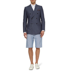 Junya Watanabe Houndstooth Check Cotton Shorts